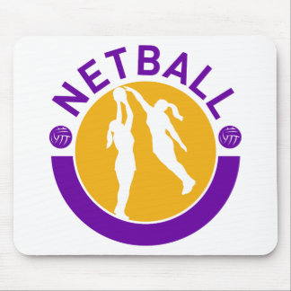 Netball player shooting blocking the shot mouse pad