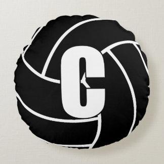 Netball Players - Center - C Round Pillow