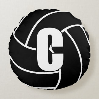 Netball Players - Centre - C Round Pillow