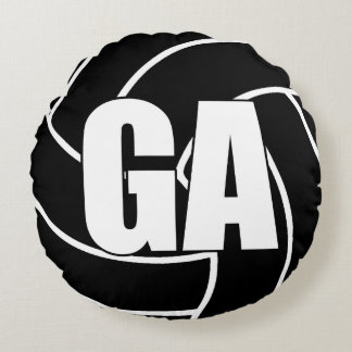 Netball Players - Goal Attack - GA Round Pillow