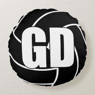 Netball Players - Goal Defence - GD Round Pillow