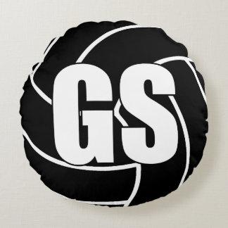 Netball Players - Goal Shoot - GS Round Pillow