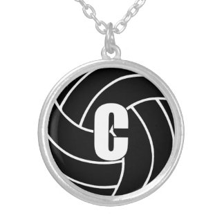 Netball Players Position, Center C Silver Plated Necklace
