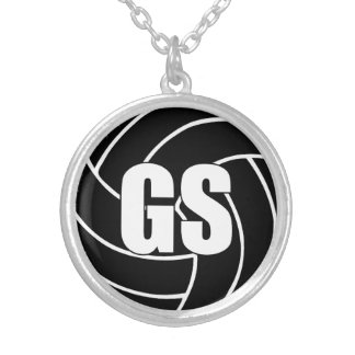 Netball Players Position, Goal Shoot GS Silver Plated Necklace
