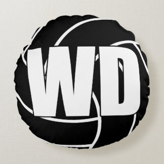Netball Players - Wing Defense - WD Round Pillow