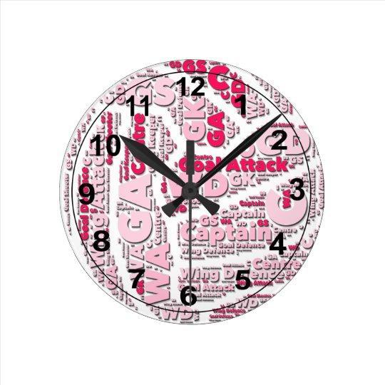 Netball Positions Ball Design Clock