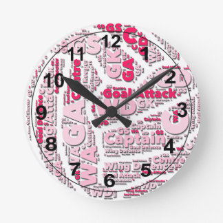 Netball Positions Ball Design Round Clock