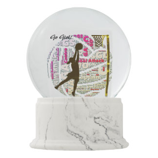 Netball Positions Ball Design Snow Globe