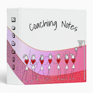 Netball Positions Coaching Notes Theme Design Vinyl Binders