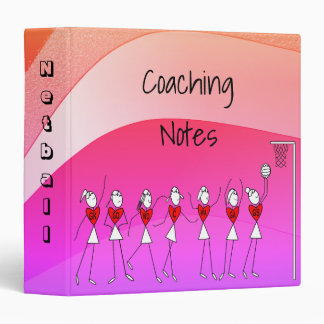 Netball Positions Coaching Theme Design Binders