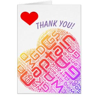 Netball Positions Heart Design Thank You Card