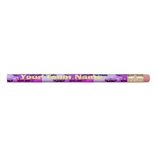 Netball Positions Team Name Personalised Pencil