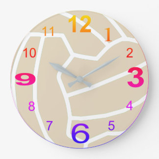 Netball Theme Ball Picture Print Design Large Clock