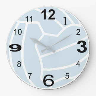 Netball Theme Ball Print Design Large Clock
