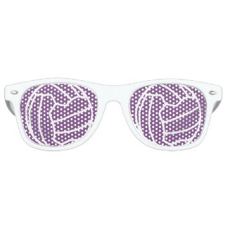 Netball Theme Ball Print Design Retro Sunglasses