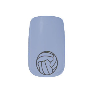 Netball Themed Ball Print Design Minx Nail Art