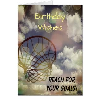 Netball Themed Birthday Greeting Card