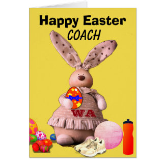 Netball Themed Bunny Happy Easter Card