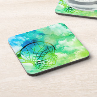 Netball Themed Picture Print Design Coaster