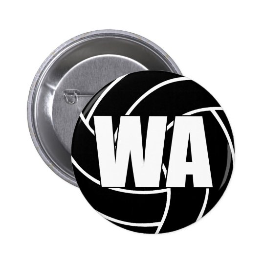 Netball Wing Attack WA 2 Inch Round Button