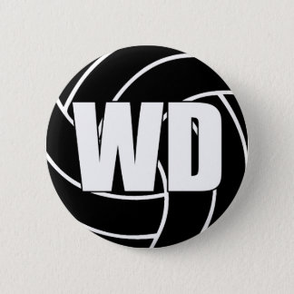 Netball Wing Defence WD 2 Inch Round Button