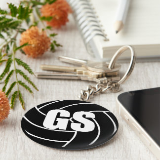 Netball Wing Defence WD Key Ring