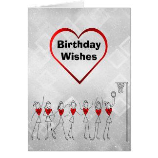 Netball Wishes Happy Birthday Card