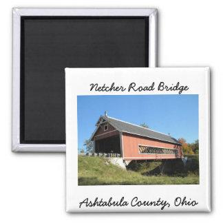 Netcher Rd Covered Bridge Ashtabula County Ohio Magnet