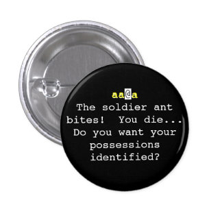 Nethack: The soldier ant bites!  You Die... 1 Inch Round Button