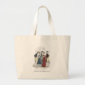 Netherfield Party Arrives at Meryton Assembly Large Tote Bag