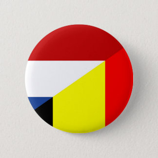 netherland belgium flag half country flag 2 inch round button