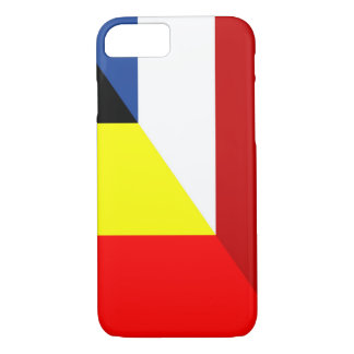 netherland belgium flag half country flag iPhone 8/7 case