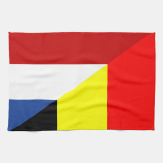 netherland belgium flag half country flag kitchen towel