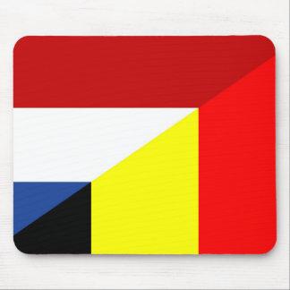 netherland belgium flag half country flag mouse pad