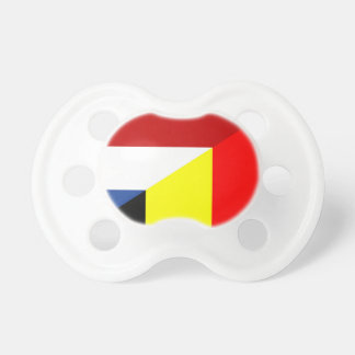 netherland belgium flag half country flag pacifiers