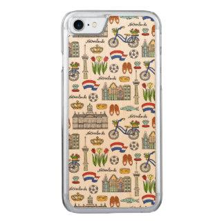 Netherland Doodle Pattern Carved iPhone 7 Case