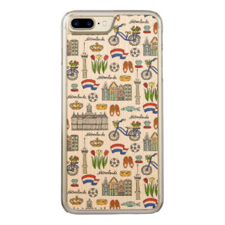 Netherland Doodle Pattern Carved iPhone 8 Plus/7 Plus Case