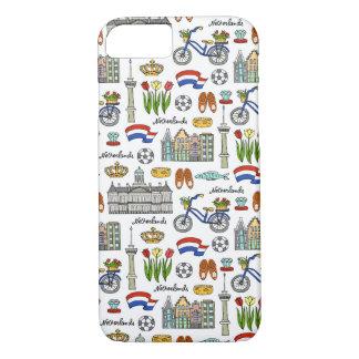 Netherland Doodle Pattern iPhone 7 Case