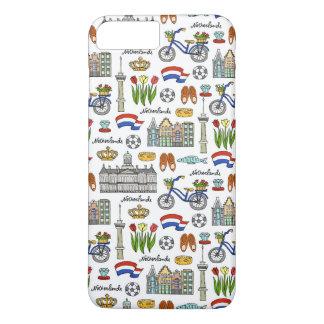 Netherland Doodle Pattern iPhone 8 Plus/7 Plus Case
