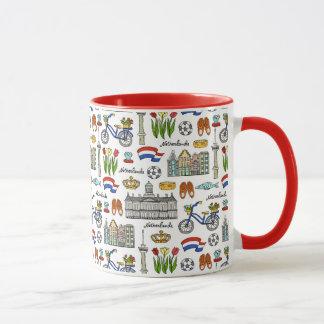 Netherland Doodle Pattern Mug