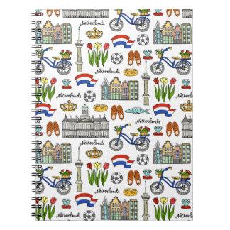 Netherland Doodle Pattern Notebook