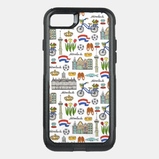 Netherland Doodle Pattern OtterBox Commuter iPhone 8/7 Case