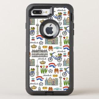 Netherland Doodle Pattern OtterBox Defender iPhone 8 Plus/7 Plus Case