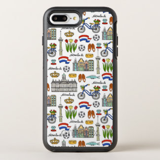 Netherland Doodle Pattern OtterBox Symmetry iPhone 8 Plus/7 Plus Case