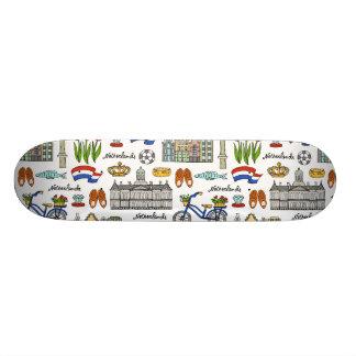 Netherland Doodle Pattern Skate Deck