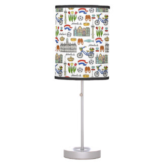 Netherland Doodle Pattern Table Lamp