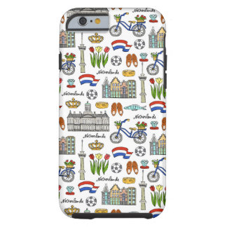 Netherland Doodle Pattern Tough iPhone 6 Case
