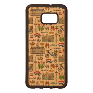 Netherland Doodle Pattern Wood Samsung Galaxy S6 Edge Case