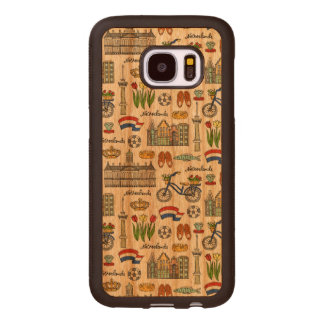 Netherland Doodle Pattern Wood Samsung Galaxy S7 Case