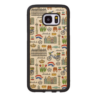 Netherland Doodle Pattern Wood Samsung Galaxy S7 Edge Case